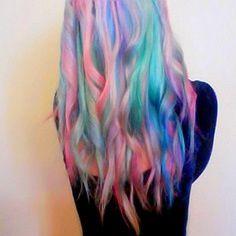 Gorgeous colourful hair .