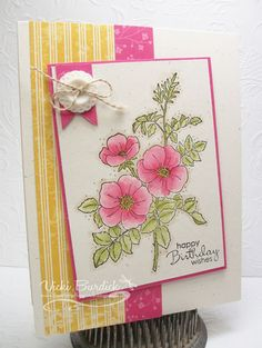 Stampin' Up! Sweetbriar Rose Birthday by justcrazy - Cards and Paper Crafts at Splitcoaststampers