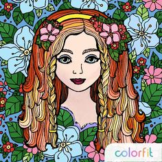#mycoloring #colorfit #coloring #coloringgirl #coloringbook #artterapy