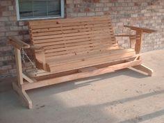 Wooden Porch Glider by Willies Woodworks