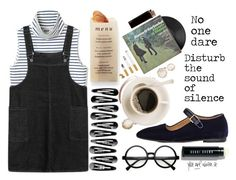 """""""Sound of Silence"""" by miica-olavarria ❤ liked on Polyvore featuring The Row, Retrò, Bobbi Brown Cosmetics and Martha Stewart"""
