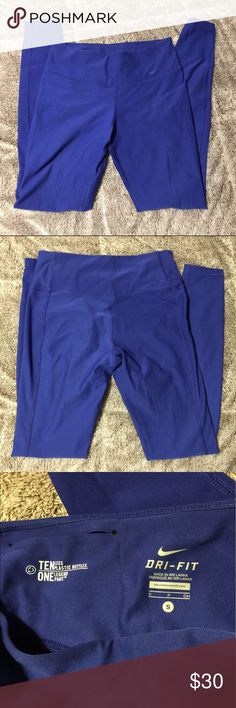 Nike dri-fit leggings In great condition Nike dri-fit blue leggings. Nike Pants Leggings