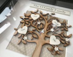Personalised Family Tree Box Frame by Katiesplaques21 on Etsy
