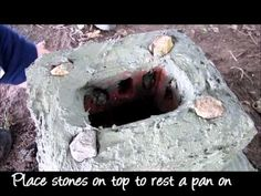 ▶ How to Make a Brick & Clay Rocket Stove - African style - YouTube