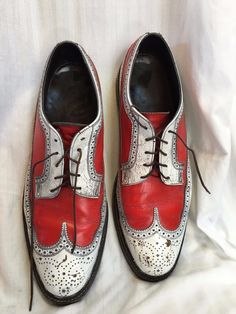 Mens Vintage FLORSHEIM Imperial Red and White Long  Wing Tip Shoes SZ 13 B   Clothing, Shoes & Accessories, Vintage, Men's Vintage Shoes   eBay!