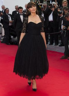 Monica Bellucci in robe Dolce & Gabbana and Christian Louboutin