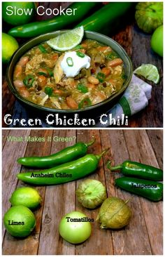 """Slow Cooker """"Green"""" Chicken Chili from NoblePig.com"""