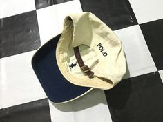 Vintage Polo ralph lauren cap small pony leather strapback cap Beige by AlivevintageShop on Etsy