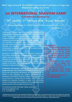 1st International Shaivism Camp by Nicolae Catrina (Adinathananda) 29th January - 3 February 2016 Brasov, Romania