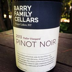 Nittany Epicurean: 2013 Barry Family Cellars Tuller Vineyard Pinot Noir