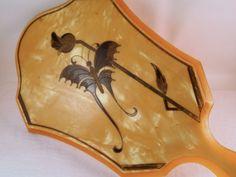 Vintage Art Deco Butterfly Hand Mirror by NowAndThenHomeDecor, $48.00