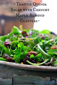 Toasted Quinoa Salad with Crunchy Maple Almond Clusters TheHealthyApple.com #glutenfree #recipe #healthy