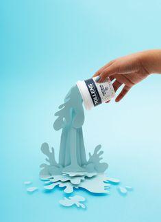 tollens peinture décoration intérieure blog déco tiboudnez 3d Paper Art, Cardboard Art, Paper Artwork, Paper Crafts, Paper Illustration, Blog Deco, Grafik Design, Stop Motion, Ad Design