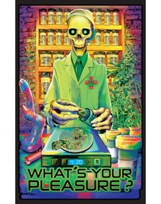 """""""What's Your Pleasure?"""" Blacklight Poster"""