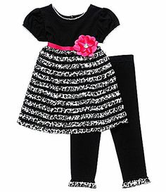 Sweet Heart Rose 2T6X 2Piece Eyelash Dress and Leggings Set #Dillards-3T