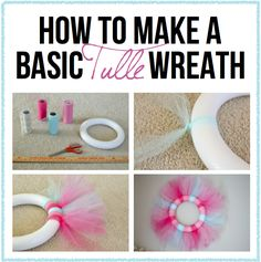 Tulle Wreath Modern Day Homemaker: DIY Tulle Wreath - A basic tutorial on how to make your own tulle wreaths.Modern Day Homemaker: DIY Tulle Wreath - A basic tutorial on how to make your own tulle wreaths. Tulle Crafts, Wreath Crafts, Diy Wreath, Burlap Wreaths, Easter Wreaths, Holiday Wreaths, Holiday Crafts, Spring Wreaths, Summer Wreath
