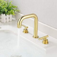 Brass sink and faucet