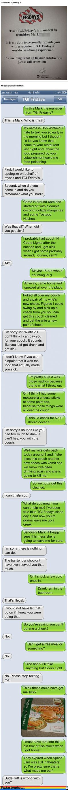 I laughed wayyyyy too hard at this! LOL The 9 Most Epic Texting Pranks Of All Time. Phone Pranks, Text Pranks, Funny Pranks, Funny Texts, Funny Fails, Humor Texts, Funny Sms, Laughing Funny, Laughing So Hard