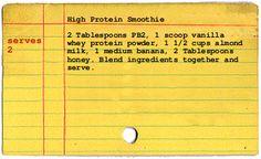 High protein smoothie recipe-yum!