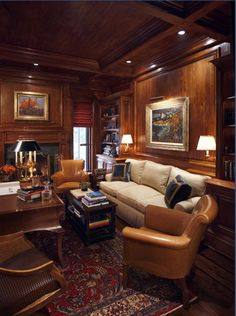 love this office/study... warm & cozy