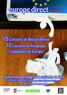 """VII Concurso de Relatos Breves / VI Concurso de Fotografía """"Ciudadanos de Europa"""" 2012"""