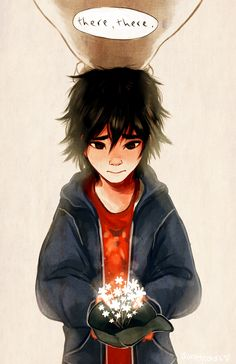 "There, there by kisechu.deviantart.com on @deviantART - Hiro from ""Big Hero 6"""