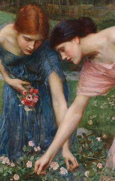 john waterhouse - gather ye rosebuds while ye may (detail 1) by deflam, via Flickr
