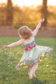 Toddler Girl Twirling in Matilda Jane in Moline | Quad Cities Photographer.jpg