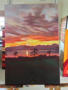 my painting of sunrise from master bedroom