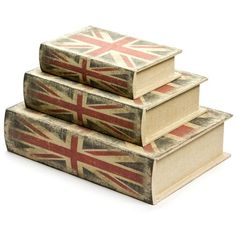 These clever Union Jack Storage Boxes look just like books. But they're not. Inside, there's a space for you to keep all your secrets!