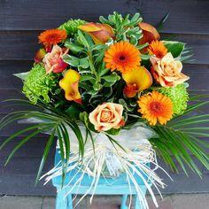"""Citrus zing"" bouquet from www.thepetalboutique.co.uk"