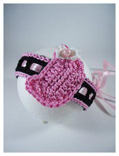 Crochet headband baby custom headband fashion baby by NikitasStore