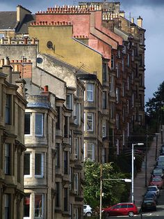 chimneys, Glasgow, Scotland