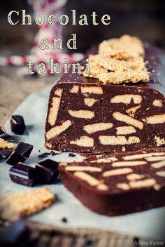 Chocolate and tahini cake
