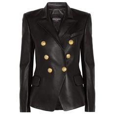 5266cb988f6 Balmain Blazer - Leather Peaked Lapel Tailored Double Breasted Fr38 Us4  Leather Balmain Blazer, Balmain