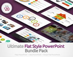 """Check out new work on my @Behance portfolio: """"Ultimate Flat Style PowerPoint Template Bundle Pack"""" http://on.be.net/1CxiysI"""