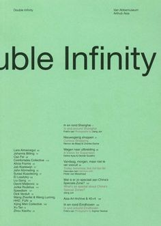 Double Infinity | Asia Art Archive