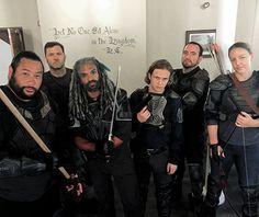 King Ezekiel and his subjects. (The Walking Dead Season 7)