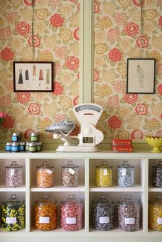Miette | San Francisco, CA--- a scale makes this display/retail sales merchandising solution for candy!