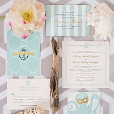 Quirky nautical style invitations | Harwell Photography | Cheree Berry Paper