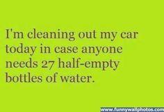 Half bottles of water