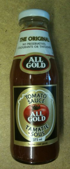All Gold Tomato Sauce - the best! Zimbabwe, Tomato Sauce, Preserves, South Africa, The Best, Bbq, African, The Originals, Gold
