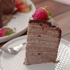These crepe cake recipes are too easy! No Cook Desserts, Easy Desserts, Dessert Recipes, Pancake Recipes, Waffle Recipes, Breakfast Recipes, Easy Crepe Recipe, Crepe Recipes, Easy Recipes