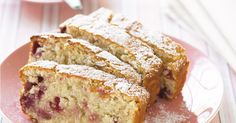 This super simple raspberry loaf is perfect for afternoon tea.