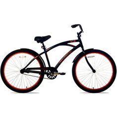 """26"""" Kent La Jolla Cruiser Men's Bike, Black/Orange"""