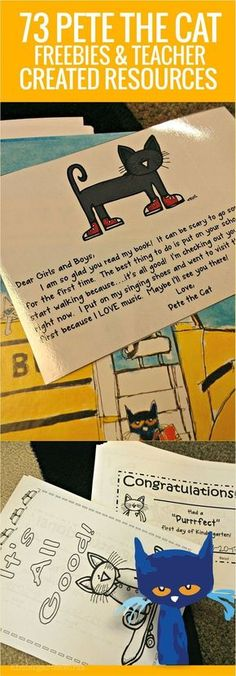 73 Cool Pete the Cat Freebies and Teaching Resources - These are awesome ideas for kindergarten