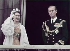 Elizabeth and Philip after the State Opening of Parliament