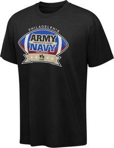 6e268f68cb5 Army Black Knights vs Navy Midshipmen American s Game Black T-Shirt