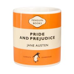 Literature-Inspired Gifts For Book Lovers: Fans of Penguin Classics will love sipping their morning brew from the Jane Austen Pride and Prejudice Mug ($11).