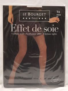 33a9b12a5ec Le Bourget Effet de Soie Pantyhose Tights Vision Size 4  fashion  clothing   shoes
